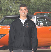 Plymouth Roadrunner Superbird Logo Embroidered 50/50 Cotton/poly Full Zip Hoodie