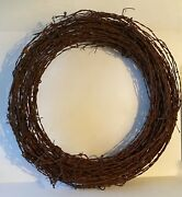 Wreath Antique Barbed Wire Large 27 Primitive Holiday Rustic Wedding Folk Art