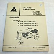 Allis Chalmers Homesteader 6-7 Hp Illustrated Parts Catalog And Blade 3 Pt. Culti