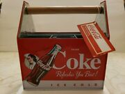Coca-cola Utensil Caddy Carrier Metal Coke Refreshes You Best Brand New Unique