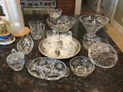 Early American Vintage Eapc Star Of David Assortment Of Glassware