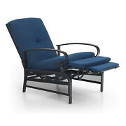 Patio Recliner Adjustable Lounge Chair With Cushion Sofa Chair Outdoor Furniture