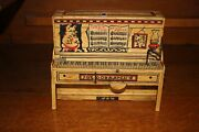 Antique Unique Art Lil Abner Piano Tin Litho Wind Up Toy 1