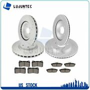 Front Rear Ceramic Pads And Rotors Brake For 2011 2012 2013 2014 Ford Mustang