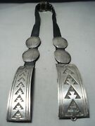 Authentic Vintage Navajo Tommy Jackson 1987 Sterling Silver Concho Belt