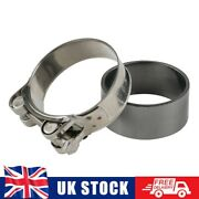 Stainless Exhaust Gasket Seal Ring Clamp For Suzuki Gsf 600 650 1200 1250 Bandit