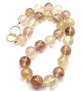 Authentic And Co Paloma Picasso 18k Yellow Gold Rutilated Quartz Necklace