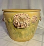 Large And Rare Weller Pottery Flemish Jardiniere With 4 Handles Ca.1920....mint