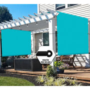 Universal Pergola Replacement Cover Canopy Shade Screen With Grommets-turquoise