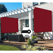 Waterproof Pergola Canopy Cover With Grommets Weight Rods For Patio Backyard-red