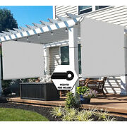 Universal Pergola Replacement Cover Canopy Shade Screen With Grommets-gray