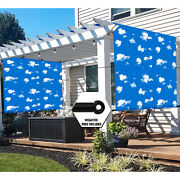 Universal Pergola Replacement Cover Canopy Shade Screen With Grommets-sky-blue