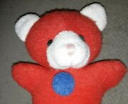 Htf/rare 6 Plush Terry Cloth Color Red Blue Yellow Bear 90's Baby Rattle Toy