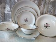 Noritake China Rosales 5790 One 7-piece Setting Plates Cup Saucer Bowlandnbsp