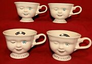 Vintage 4 Baileys Mugs Winking Face Cups Helen Hunt Los Angeles Youth Network