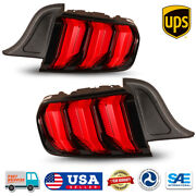 Led Tail Light Sequential Turn Signal For 15-20 Ford Mustang Facelift Euro Style