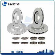 Front Rear Discs Brake Rotor And Ceramic Pads For Ford Mustang 2011-2014 Drill
