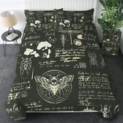 Beetle Gold Moth Dragonfly King Queen Twin Quilt Duvet Pillow Cover Bed Set