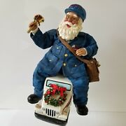 Possible Dreams Clothtique Santa Postman Mail Delivery Truck 2000 Christmas Xmas
