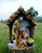 Holy Family Nativity Set Scene In Stable Creche 15 In Indoor Outdoor Yard Decor