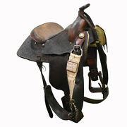 Used 15 Bedell Rodgers Trophy Roping Saddle Code C15bedellrtro69