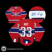 Patrick Roy Montreal Canadiens Signed Jersey Ccm Authentic Vintage