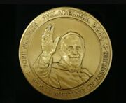 Pope Francis In Fancy Black Case Bronce Coin World Meeting In Philadelphia 2015
