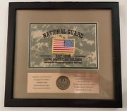 United States Army National Guard American Patriot Award Plaque Victory Coin