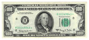 1963 A 100 Star ⭐ St. Louis Federal Reserve Note. Au. Y00007599