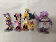 Lot 6 Disney Store Mickey Mouse Clubhouse Clarabelle Glitter Figure Cake Topper