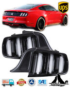 Clear Lens Full Led Sequential Turn Signal Tail Light For 2015-2020 Ford Mustang