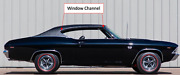 1969 Chevelle Ss Gm - Nos Left And Right Weatherstrip Channel