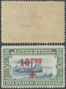 Belgian Congo 1918 Red Cross Surcharge - Mnh Stamp Eb160