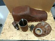 1955 Chev 265 Oil Pan Timing Cover And Oil Filter Housing