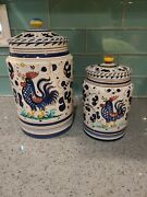 Rooster Canisters Made In Italy
