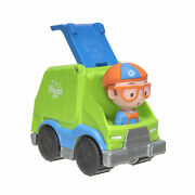 Lot Of 3 Blippi Mini Vehicles 1 Recycling/garbage Truck And 2 Monster Trucks