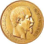 [856186] Coin France Napoleon Iii 50 Francs 1856 Paris Au55-58 Gold