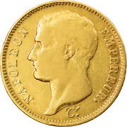 [864556] Coin France Napolandeacuteon I 40 Francs 1807 Limoges Rare Gold