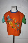 Vtg United Colors Of Benetton Color Block All Over Print Spell Out T Shirt Sz Xl