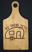 Laser Engraved Cutting Board With Handle. Camping Themed
