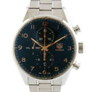 Tag Heuer Watches Car2014 Silver Black Stainless Steel Carrera Chronograph ...