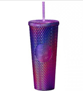 Starbucks Christmas Gift 2020 Purple Durian Cup Diamond Straw Cup Drinking Cup