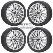 20 Lincoln Continental Pvd Bright Chrome Wheels Rims And Tires Oem Set 4 201...