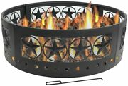 Fire Pit - Large Round 36 Inch Campfire Ring - Heavy-duty 0.91mm Thick Steel