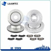 Brake Ceramic Pads And Rotors Front And Rear For Gmc Envoy 2006 2007 2008 2009