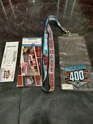 2017 Brickyard 400 Practice And General Admission Ticket Stub Autographed Lanyard