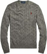 Polo Men's Pony Cable Knit Crewneck Sweaters