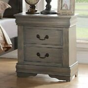 Traditional 2-drawer Nightstand Wooden Bedside Table Storage Lamp Photo Display