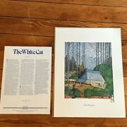 Vintage Artwork Success 1981 W Frame Up The White Cat Poster Print A Spanish