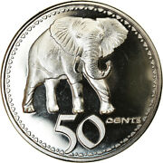 [786249] Coin, Rhodesia, 50 Cents, 2018, British Royal Mint, Eléphant, Ms63
